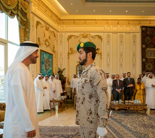Mohamed bin Zayed Receives Recipient of Sandhurst's Sword of Honor