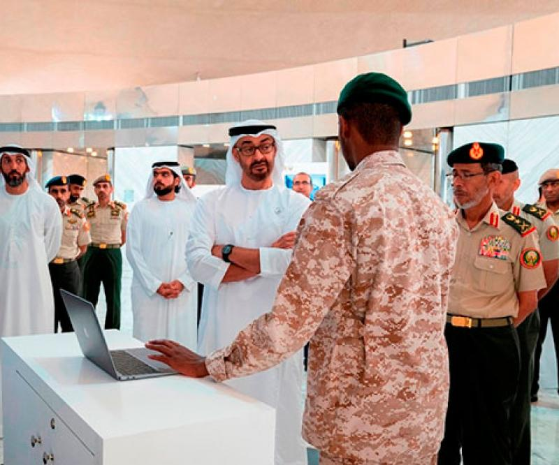 Abu Dhabi Crown Prince Reviews E-Skills of National Service Recruits
