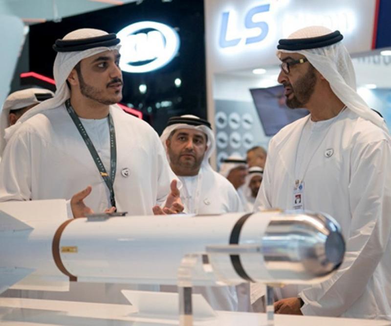 Abu Dhabi Crown Prince Visits Final Day of IDEX 2019