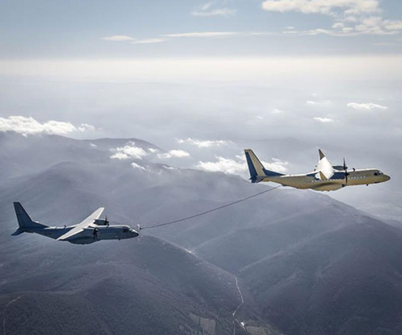 Airbus C295 Performs Wet Contacts as a Tanker