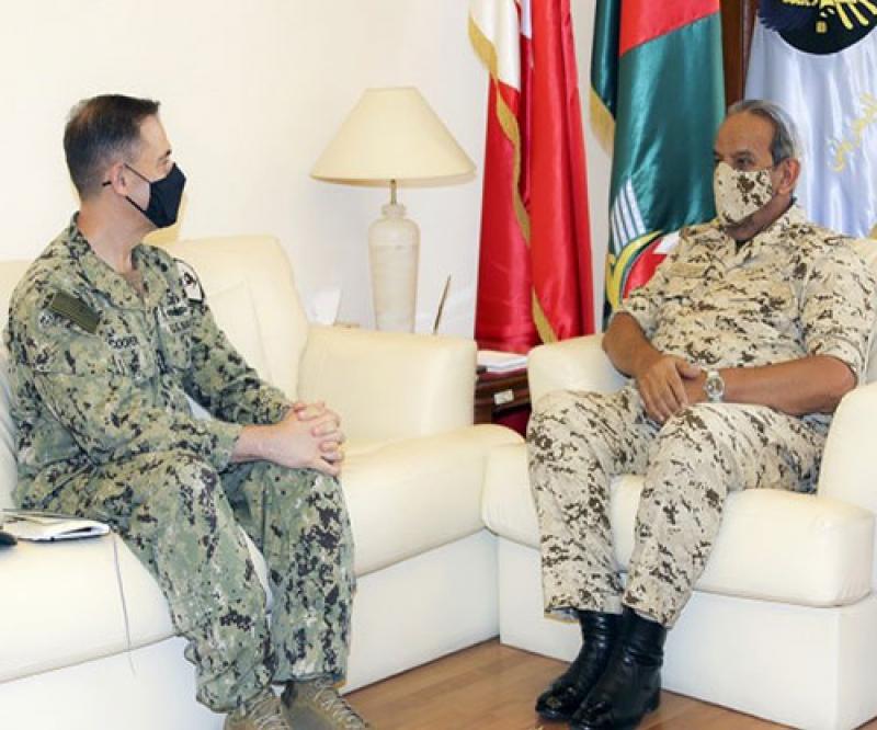 Bahrain's Commander-in-Chief, Coast Guard Commander Receive US 5th Fleet Commander