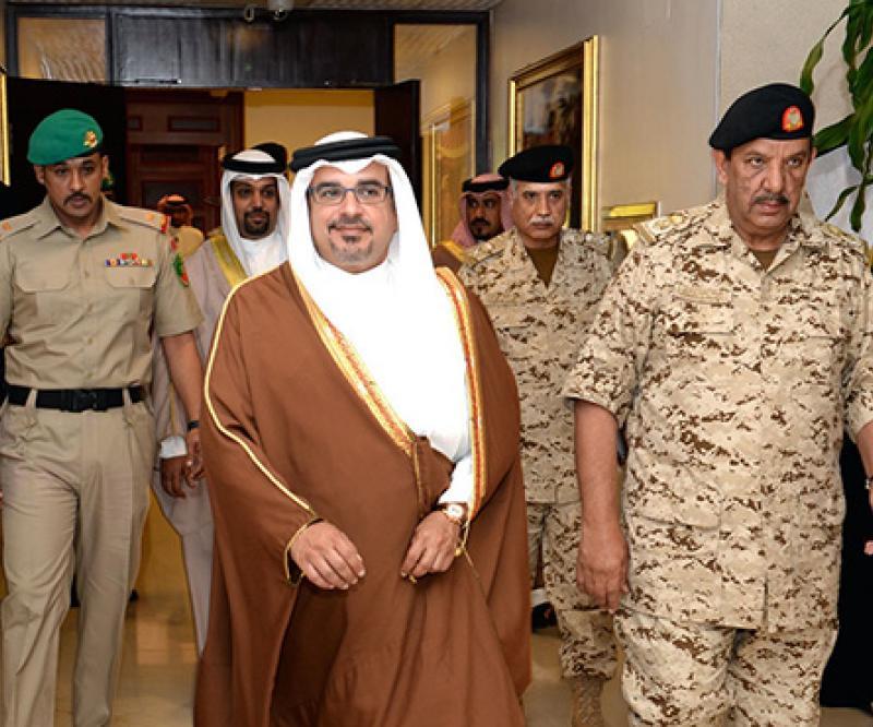 Bahrain's Crown Prince Receives Defense Force Commander