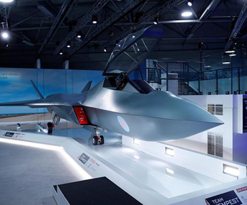 Britain Unveils Model of Tempest Fighter Jet