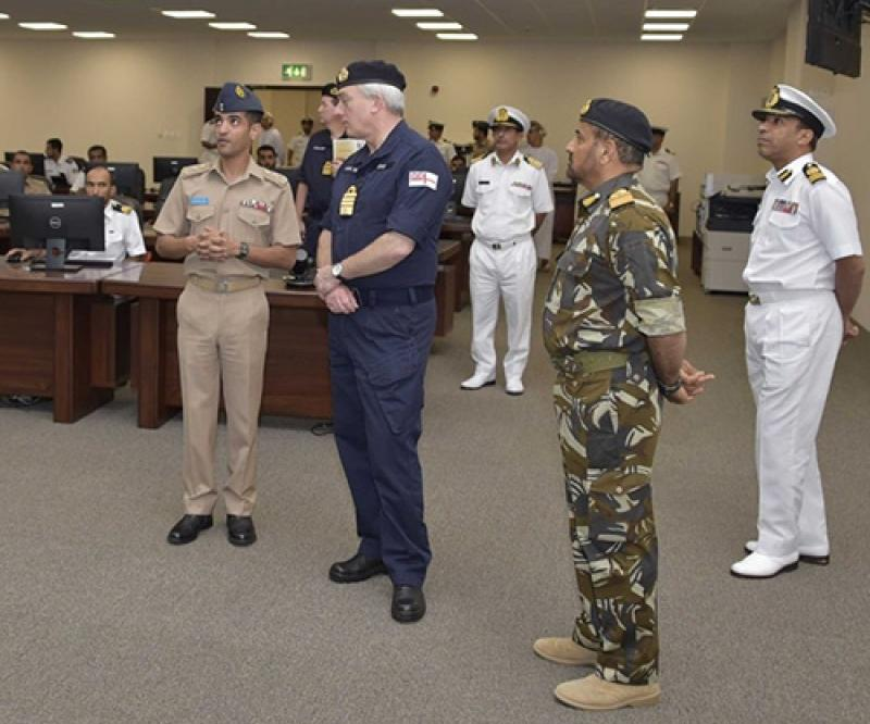British Naval Staff Chief Visits Oman's Maritime Security Center