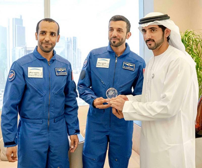 Crown Prince of Dubai Receives First Emiratis Astronauts