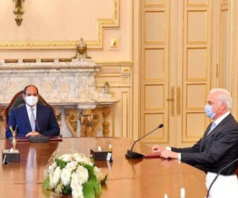 Egyptian President, Navy Commander Meet CEO of Lürssen