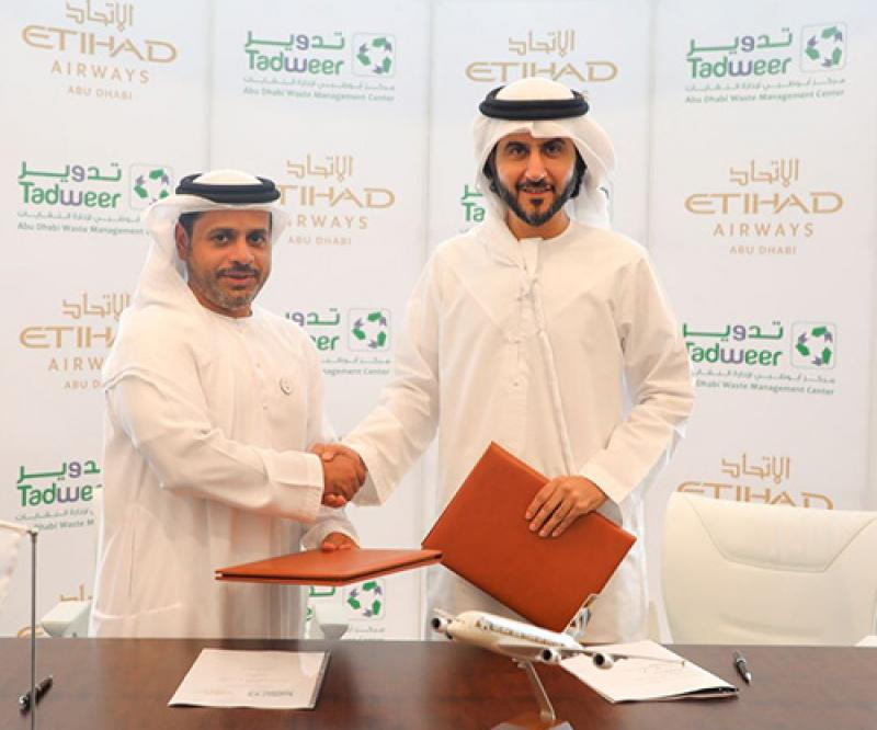 Etihad Airways, Tadweer to Turn Municipal Waste into Jet Fuel