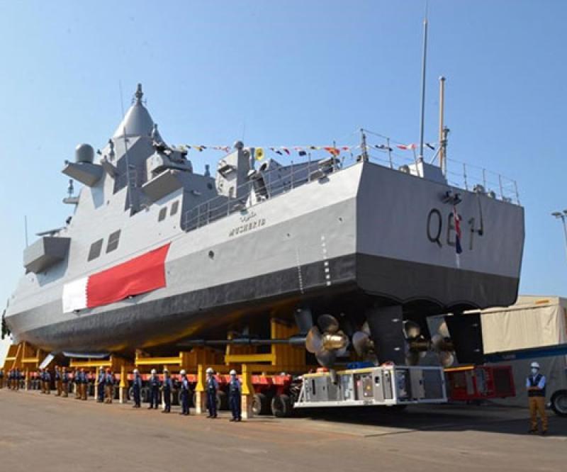 Fincantieri Launches First Patrol Vessel for Qatar