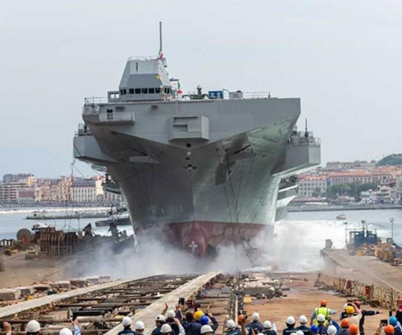 Fincantieri Launches Multipurpose Amphibious Unit Trieste