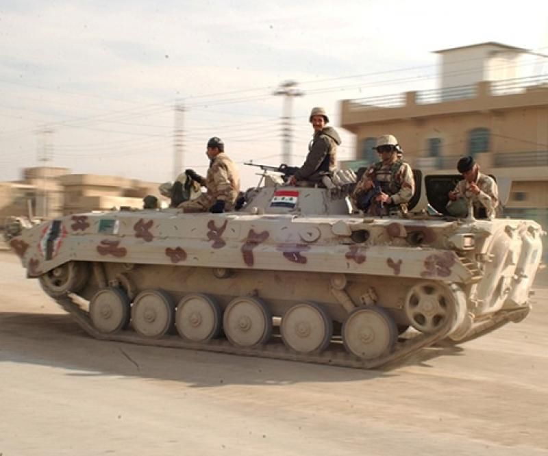 Iraqi Police Receiving BMP-1 Infantry Fighting Vehicles