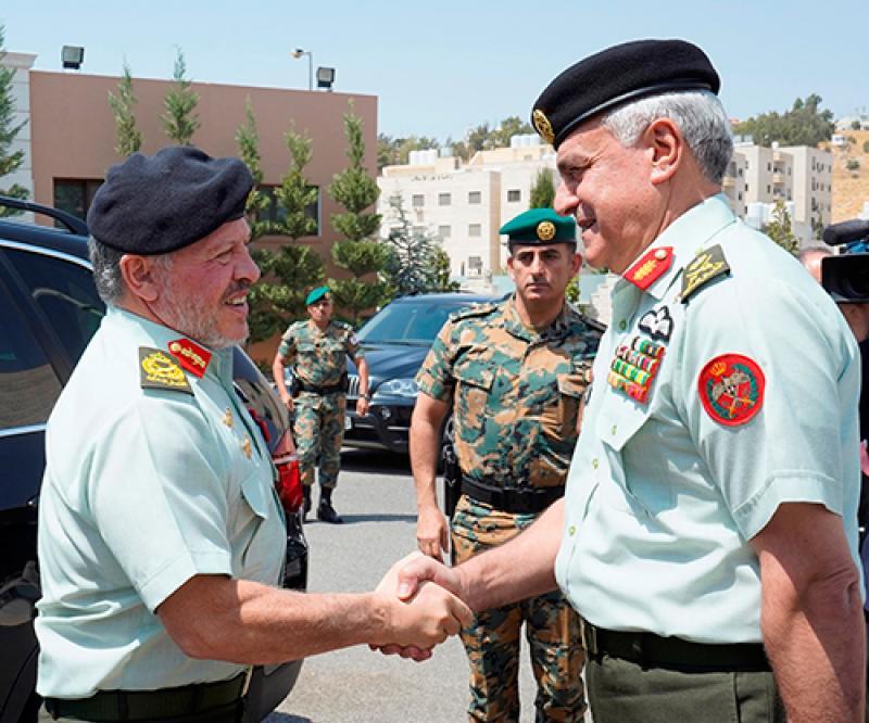 Jordanian King Visits Armed Forces General Command