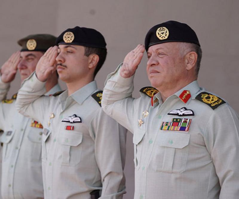 Jordanian King Honors 2nd Al Hussein Mechanized Battalion