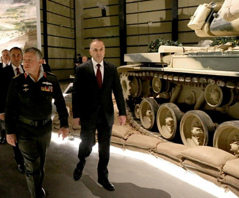 Jordanian King Inaugurates Royal Tank Museum