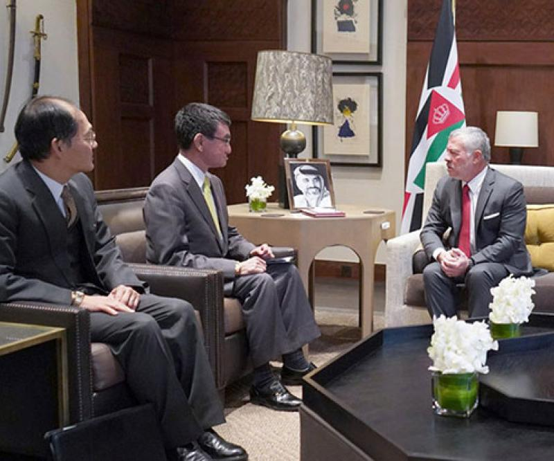 Jordanian King Receives Japanese Defense Minister