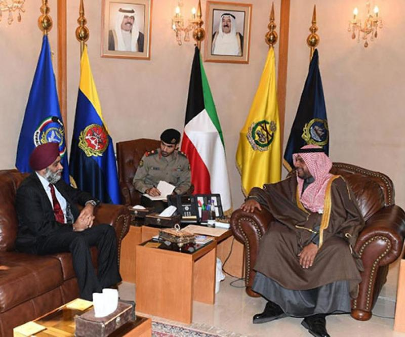 Kuwait's Defense Minister Receives Iraqi, Egyptian, Canadian Counterparts