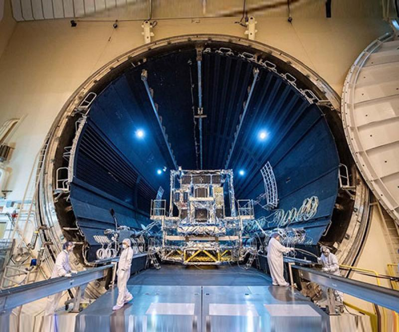 LM 2100™ SBIRS Missile Warning Satellite Completes Thermal Vacuum Testing