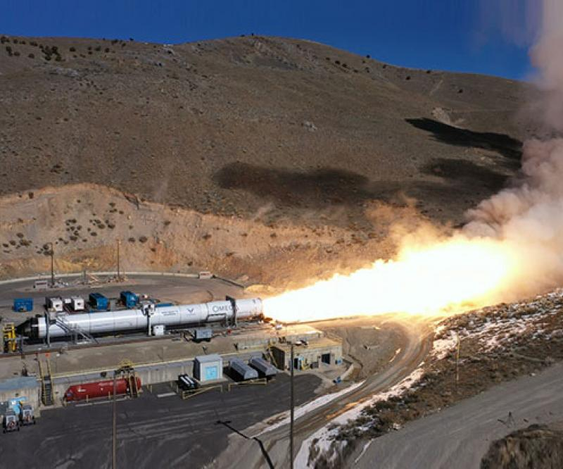 Northrop Grumman Conducts Second Stage Test for OmegA Rocket