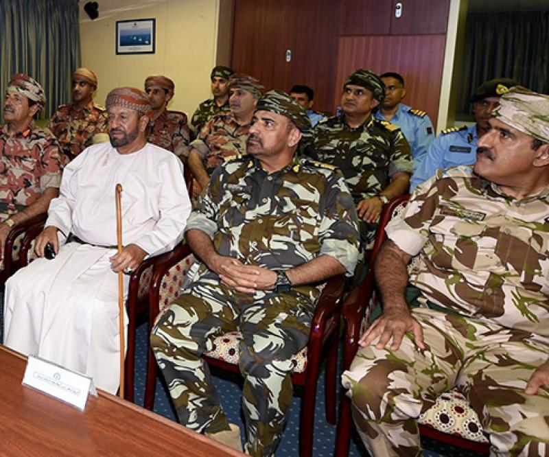 Oman's Defense Affairs Minister Visits Swift Sword/3 Drill