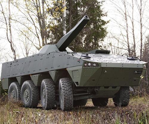Patria Presents Armored Wheeled Vehicles, Sensors at IDEX