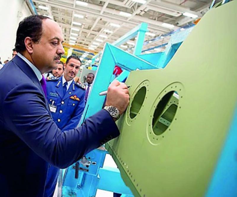 Qatar's Defense Minister Visits Boeing's F-15 Plant