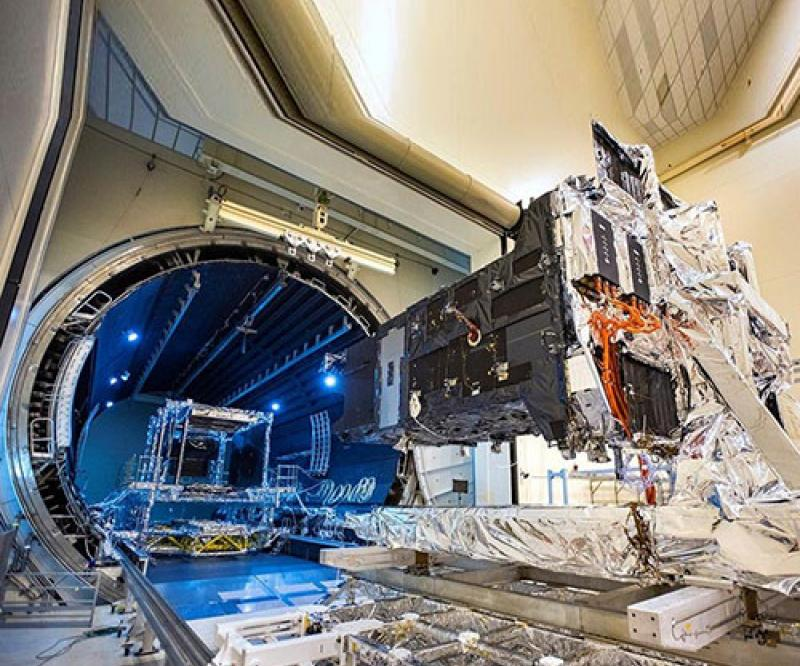 SBIRS GEO-5 Space Vehicle Enters Critical Thermal Vacuum Testing