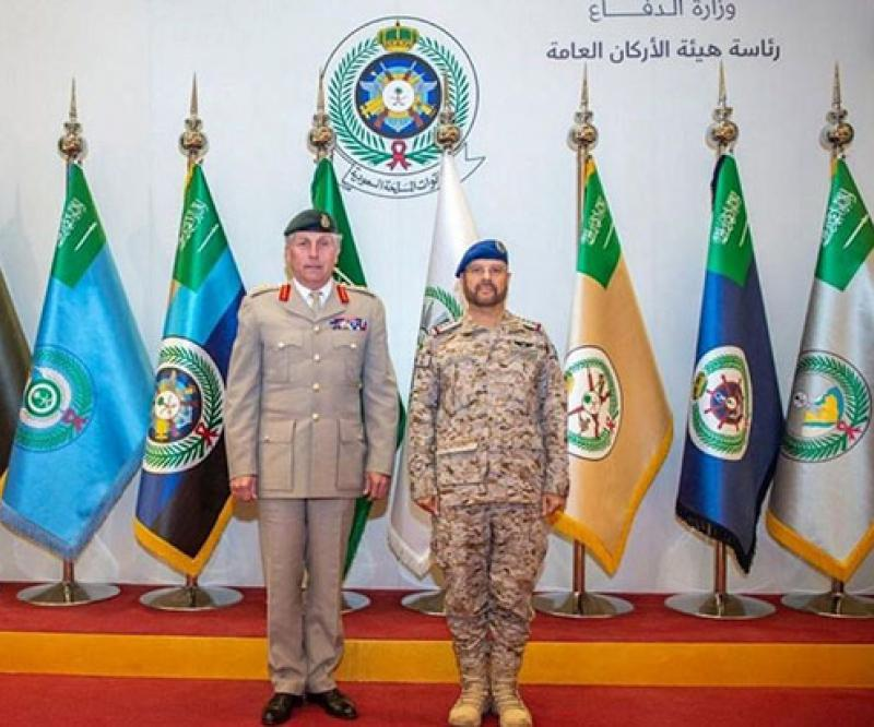 Saudi Chief of General Staff Decorates Chief of UK Defense Staff