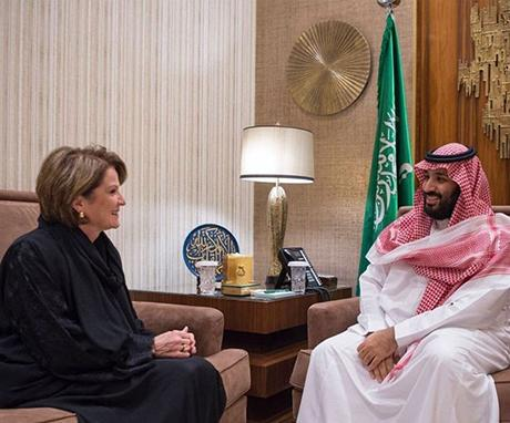 Saudi Crown Prince, Lockheed Martin CEO Discuss Military Cooperation
