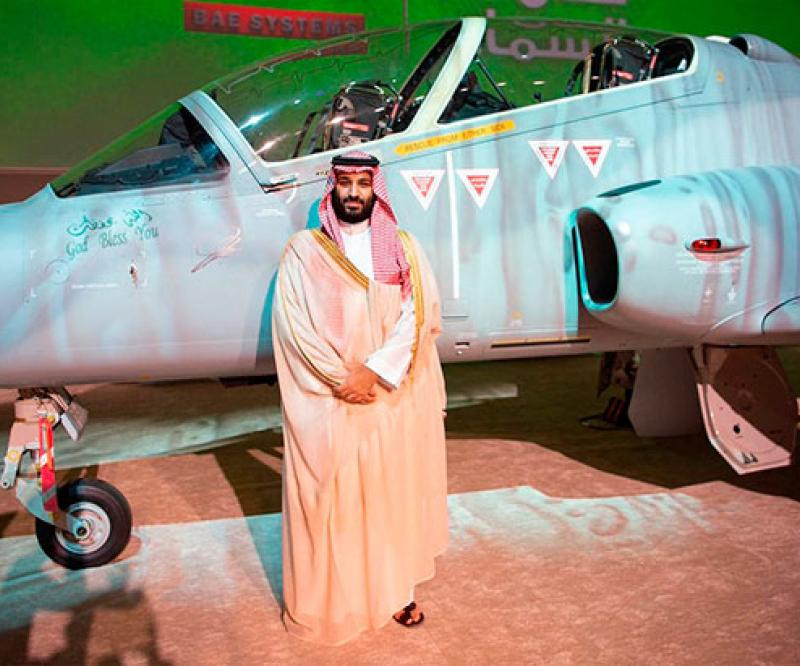 Saudi Crown Prince Launches First Hawk Training Aircraft