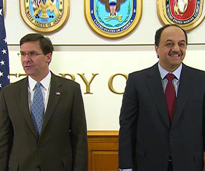 U.S. Secretary of Defense Receives Qatar's Minister of Defense