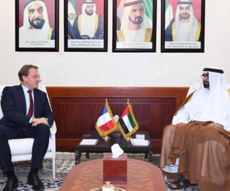 UAE Defense Minister Receives French Ambassador