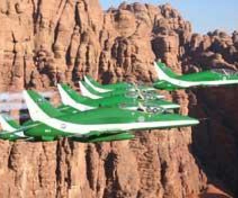 The Saudi Hawks at the 2011 Al Ain Aerobatic Show