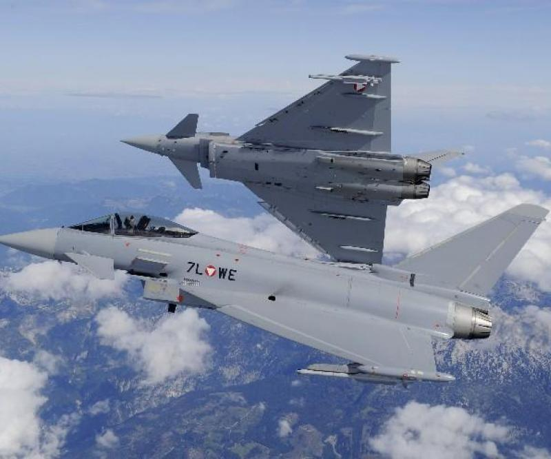 Eurofighter Typhoon deliveries completed to the Austrian Air Force