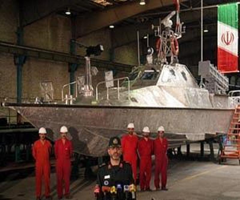Iran Launches High Speed Boats