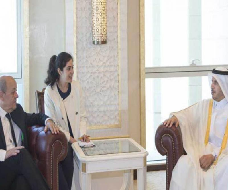 Qatar's Prime Minister Receives French Defense Minister