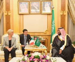 Saudi Defense Minister Receives Italian Counterpart