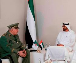 Abu Dhabi Crown Prince Receives Algerian Deputy Defense Minister