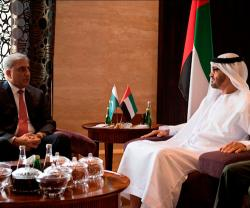 Abu Dhabi Crown Prince Receives Chief of Pakistan Army