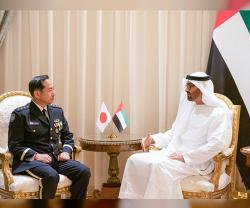 Abu Dhabi Crown Prince Receives Japan's Chief-of-Staff