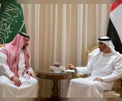 Abu Dhabi Crown Prince Receives Saudi Deputy Defense Minister