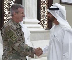 Abu Dhabi Crown Prince Receives US Commander in Afghanistan