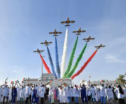 Al Fursan Concludes Air Display Over UAE's Hospitals