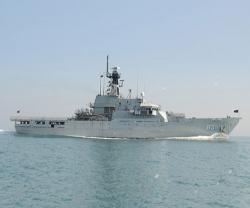 Bahrain's 'RBNS Al-Zubara' OPV Docks in Salman Naval Base