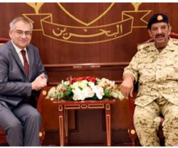 Bahrain's Commander-in-Chief Welcomes 3 New Ambassadors