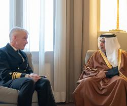 Bahrain's Crown Prince Meets New 5th Fleet Commander