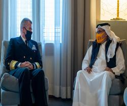 Bahrain's Crown Prince Receives Commander of US 5th Fleet