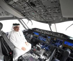 Bahrain's Crown Prince Tours Gulf Air's Fleet of Boeing 787 Dreamliners