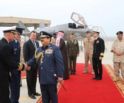 Bahrain's King Witnesses F-35 Demo Flight at Isa Air Base