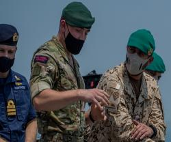 Bahrain's Royal Guard Special Force Commander Visits British Naval Support Facility