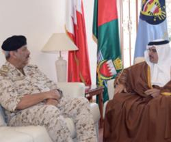 Bahrain Deputy King Visits General Command of Defense Force