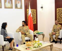 Bahrain Royal Guard Commander Receives Military Delegations at BIDEC